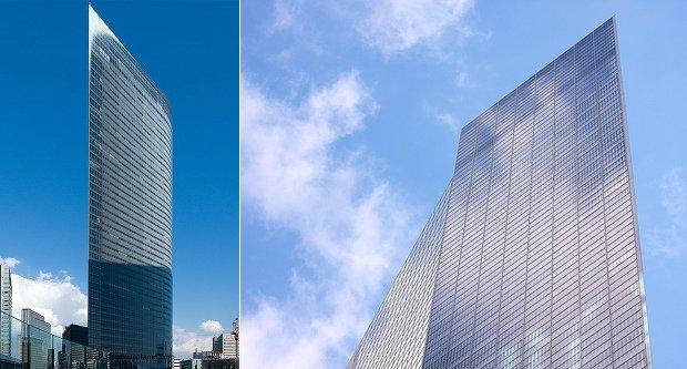dentsu building tower tokyo