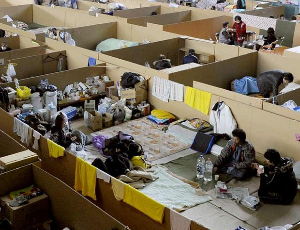japan earthquake evacuation shelter