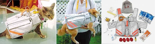 pet emergency evacuation disaster suit kit dog japan