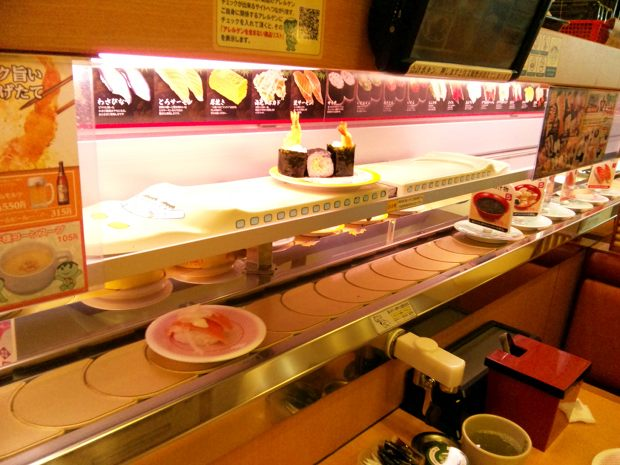 kappa sushi kaiten conveyor belt shinkansen bullet train