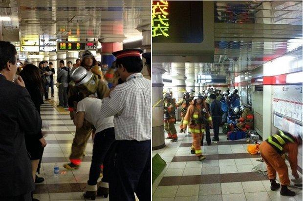 tokyo subway marunouchi line explosion can