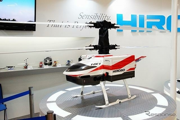 manless drone electric silent helicopter hirobo japan