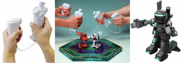 omnibot battroborg battle robot motion activated boxer