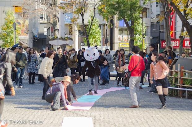 festival tokyo flash mob japan