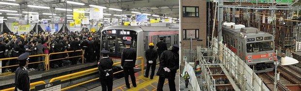 tokyu toyoko line shibuya station change fukutoshin train underground