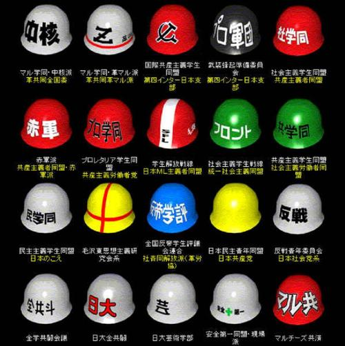 japan student radical group helmet design