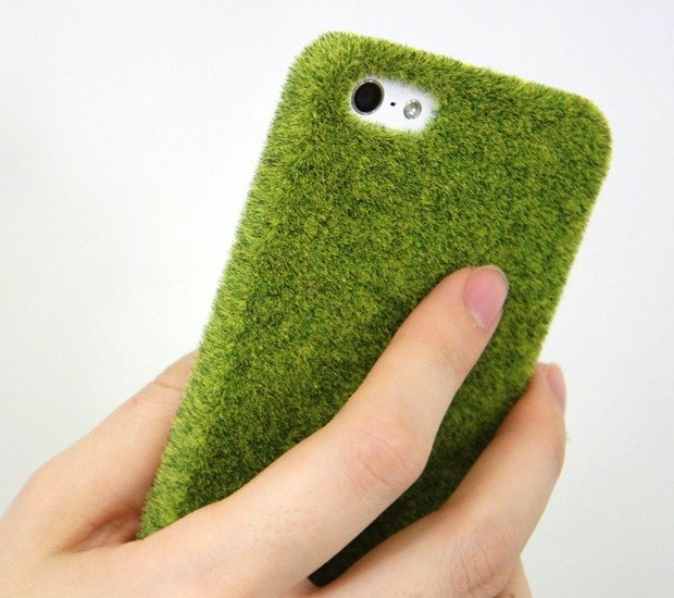 shibaful iphone park grass cover case