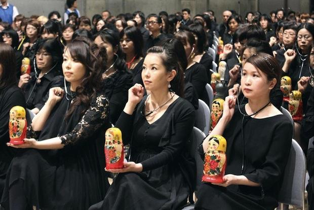 japan world record largest theremin concert takeuchi masami Matryomin russian doll matryoshka music hamamatsu