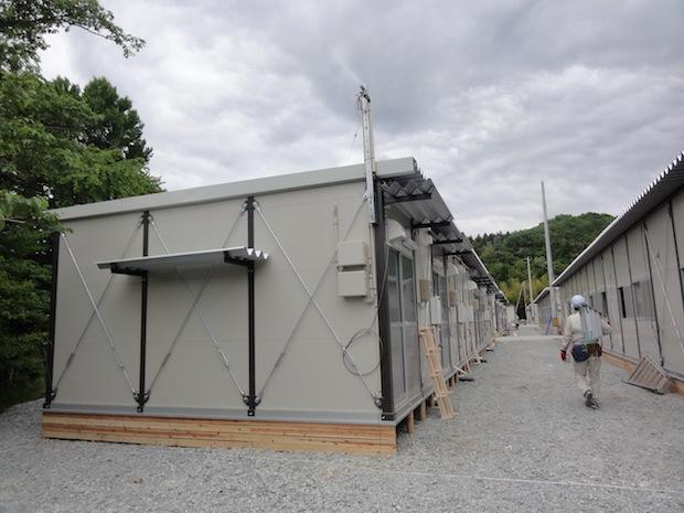 japan tohoku temporary housing refugee evacuee