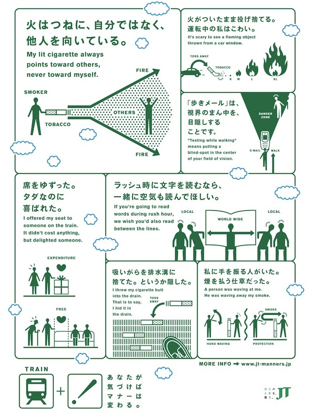 jt japan tobacco smokers posters design
