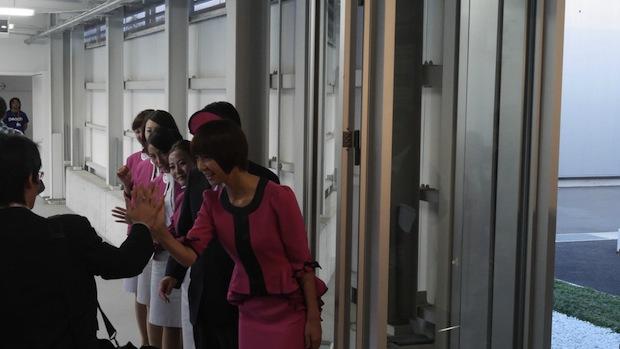 mariko shinoda akb48 peach airplane jet plane cabin attendant