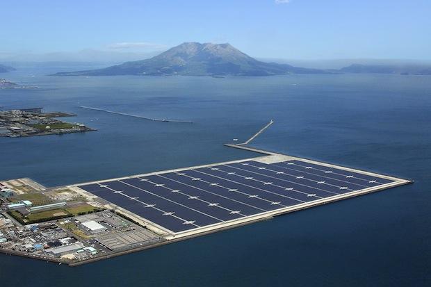 kyocera kagoshima nanatsujima mega solar power plant