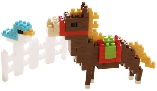 nanoblock nengajo 2014 new year post card