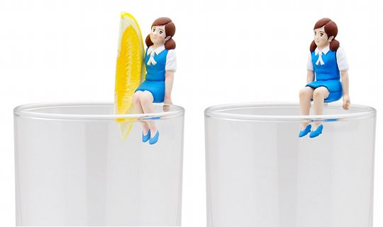 koppu no fuchiko cup office lady figure japan capsule toy chibi tiny girl