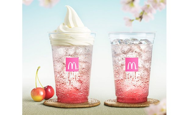 mcdonalds sakura cherry blossom float soda spring drinks desserts