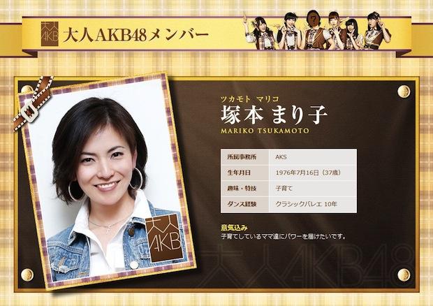 mariko tsukamoto akb48 idol housewife 37 years old