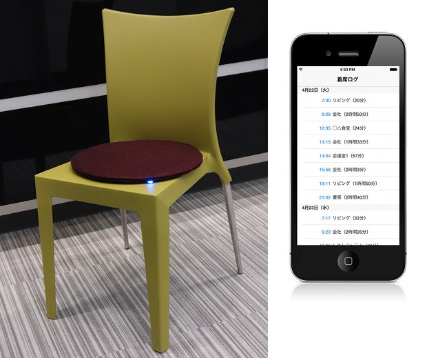smart zabuton cushion chair seat smartphone check availability cafe restaurant