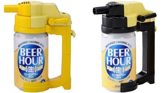 beer hour can dispenser foam creamy head