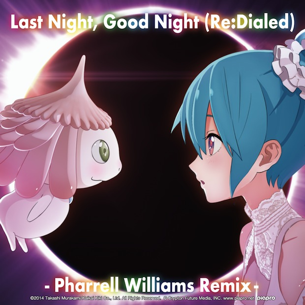 last night good night re-dialed takashi murakami hatsune miku pharrell williams