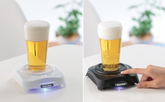 sonic hour beer froth foam maker