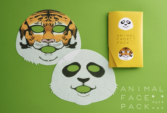 animal face pack beauty mask ueno zoo charity japan tiger panda