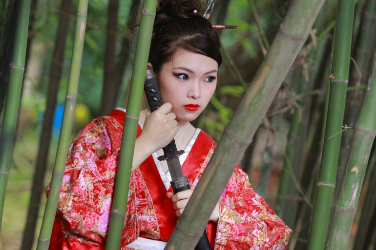 sword bamboo buy ninja princess kimono warrior knife japan