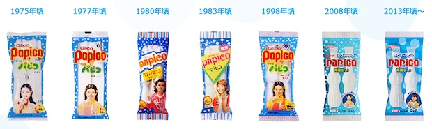glico papico white sour ice cream design packaging history