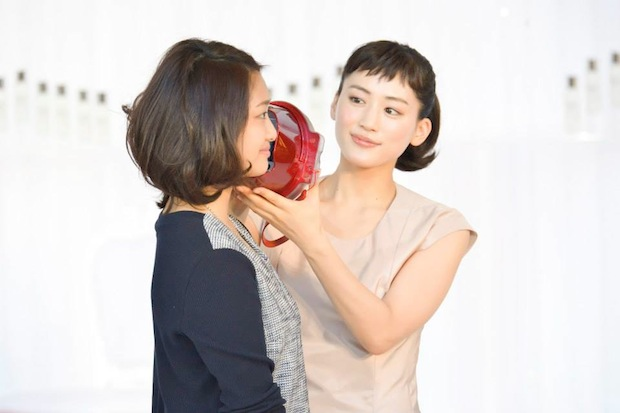 shiseido sk-ii pitera-rium dock beauty counselor bus magic ring bihada skin analysis haruka ayase campaign