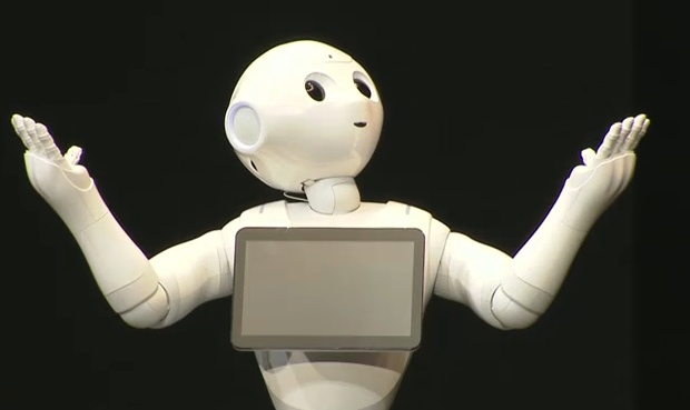 softbank pepper robot shop store staff humanoid customer service cute masayoshi son