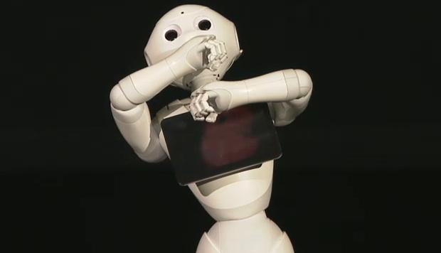 softbank pepper robot shop store staff humanoid customer service cute masayoshi son