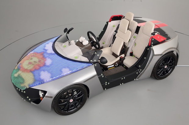 tokyo toy show 2014 toyota camatte lab customize car design hood led znug kids children