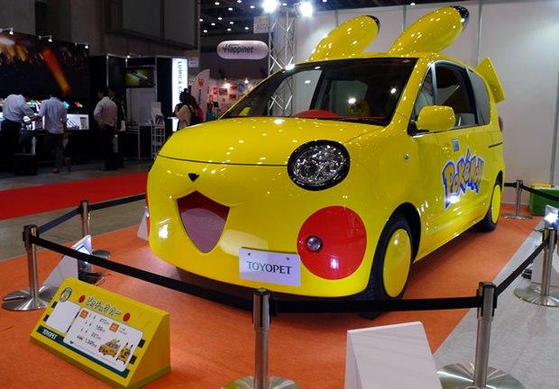 toyopet pokemon toyota car pikachu fennekin tokyo toy show 2014