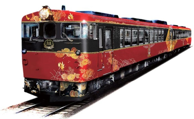jr west wakura onsen kanazawa tourism sightseeing train lacquerware wajima kaga yuzen crafts traditional design