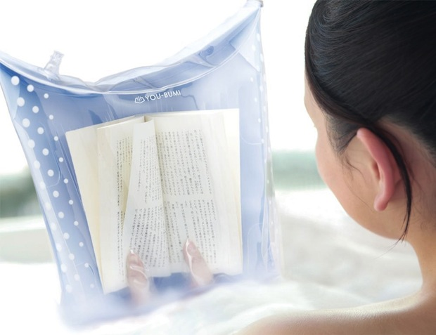 you-bumi reading book cover case jacket bath bag