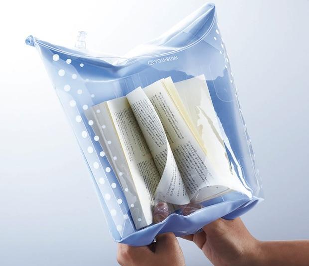 you-bumi reading book cover case jacket bath bag