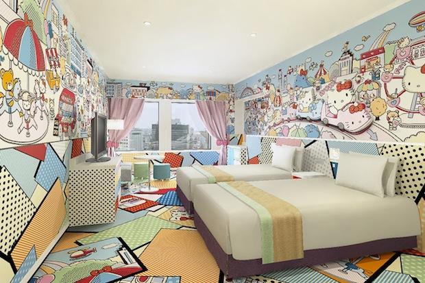hello kitty hotel room keio plaza tokyo tama shinjuku