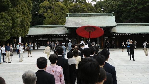 meiji shrine harajuku wedding tokyo