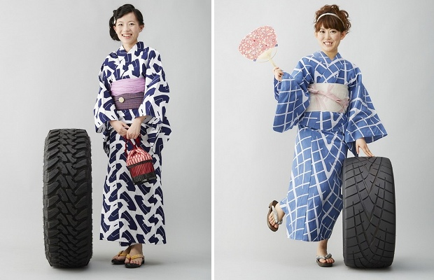 toyo tire tread mark yukata fashion japanese kimono summer wear