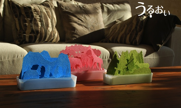 uruoi animal forest natural humidifier origami