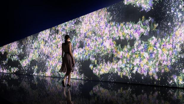 teamlab gucci infinity of flowers digital installation shinjuku japan tokyo