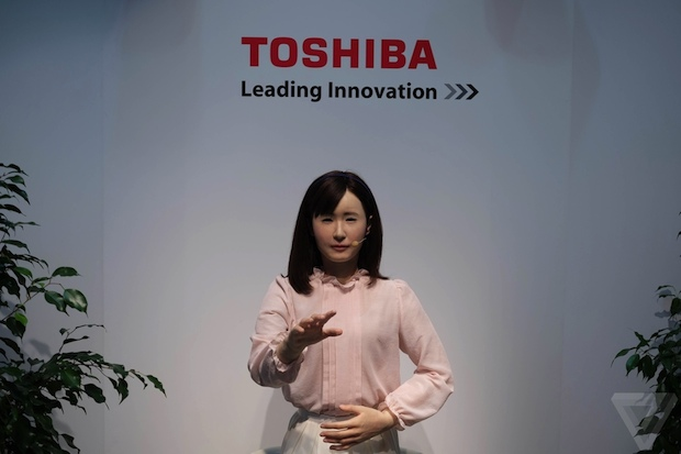 ceatec 2014 aiko chihira android robot sign language toshiba