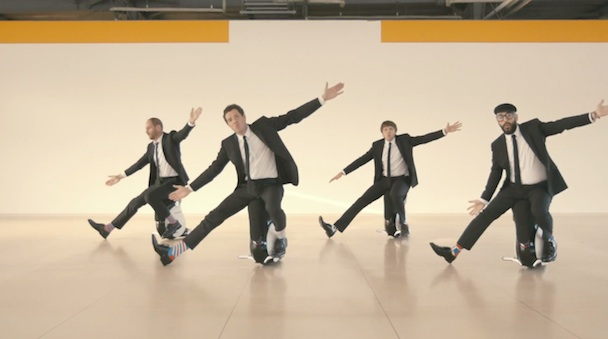 ok go i wont let you down honda uni-cub music video drone camera multi-copter japan dancers