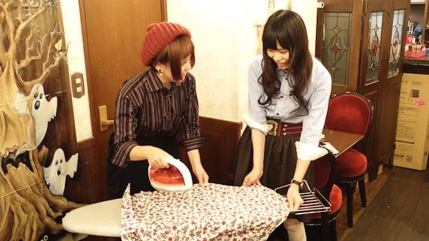 iron maid cafe akihabara ironing service tougenkyou original stitch