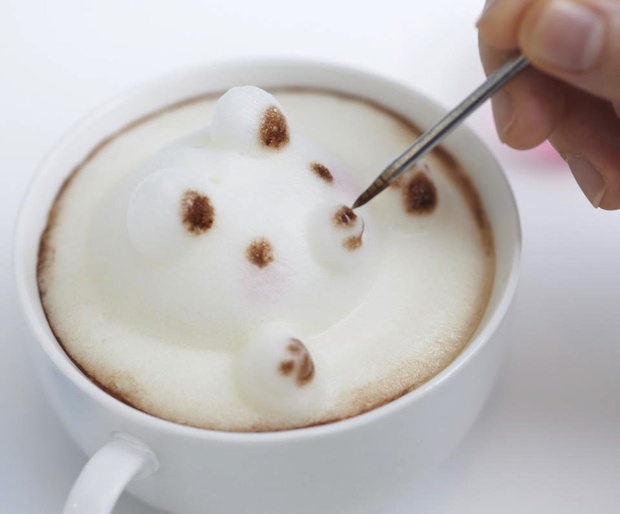 japan latte art coffee sculpture foam 3d maker awa taccino takara tomy toy