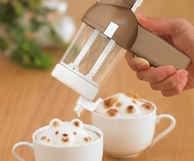 japan latte art coffee sculpture foam 3d maker awa taccino takara tomy toy