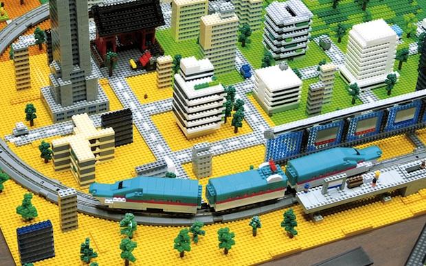 nanoblock model train bullet shinkansen electric toy railway set hayabusa nanogauge