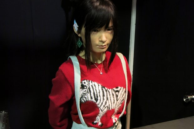 tokyo designers week 2014 photos asuna android a-lab uncanny valley receptionist