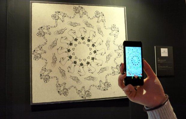 tokyo designers week 2014 photos hokusai digital interaction