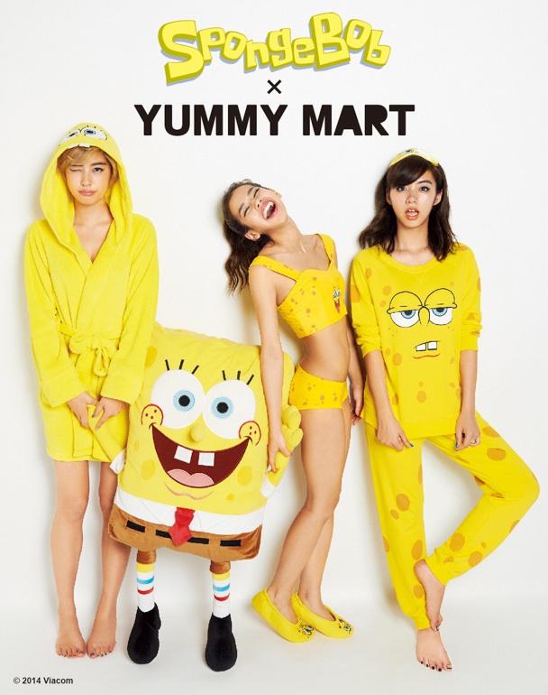 yummy mart peach john underwear pajamas spongebob squarepants character clothes