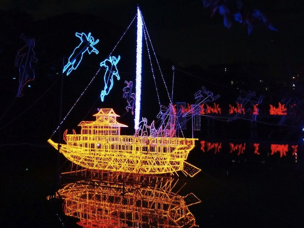 abeno tennoji illuminage illumination light show sengoku warring states period sanada yukimura tennoji park osaka